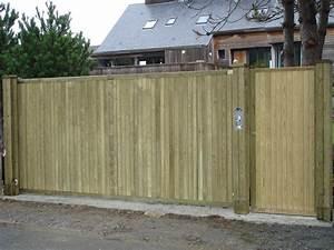 Portail En Bois Pas Cher : fabriquer son portail en bois kt53 jornalagora ~ Melissatoandfro.com Idées de Décoration