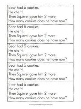 kindergarten math problem solving prompts   weeks tpt