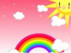 Rainbow background - Cute rainbow background hd - Rainbow cartoon      Cute Rainbow Wallpapers