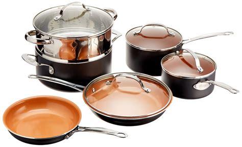 amazon lowest price gotham steel  piece kitchen nonstick frying pan  cookware set