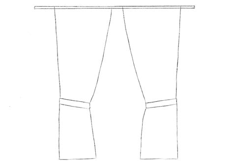 How To Draw Curtains Drawingforallnet