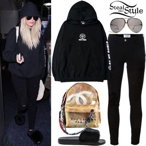 Khloe Kardashian: Black Hoodie, Ripped Jeans | Steal Her Style