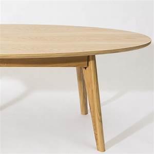 Table Basse Ovale Blanche : table basse scandinave ovale skoll by drawer ~ Teatrodelosmanantiales.com Idées de Décoration