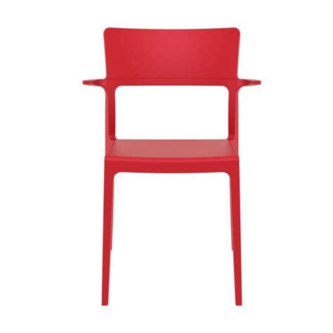 choisir siege air chaise de jardin avec accoudoirs empilable en polypropylène 093 plus 4 pieds tables