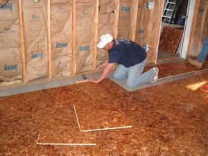 how to install a floor underlayment to wood subfloors