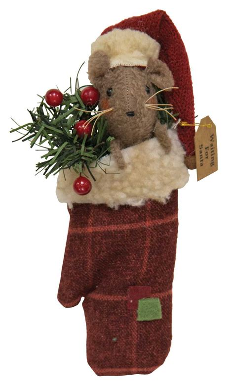 seasonal christmas winter mouse  mitten  hearthside collection