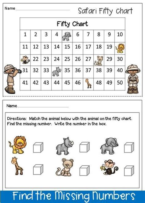 freebie this is an activity to find the missing numbers