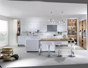 Cuisine Bois Et Blanc : 6273 cuisine mobalpa bois et blanc laque arkko ~ Dailycaller-alerts.com Idées de Décoration