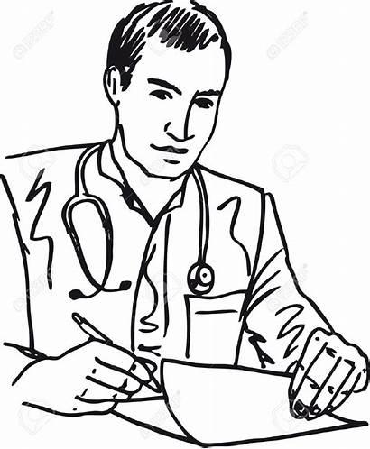 Doctor Sketch Clipart Clip Patient Medical Vector