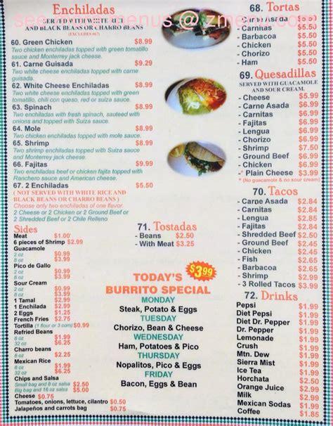 menu cuisine az menu of jalapeno 39 s restaurant restaurant florence arizona 85132 zmenu