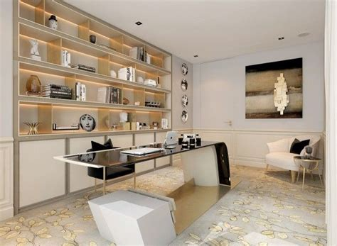 A Modern Deco Home Visualized In Two Styles by A Modern Deco Home Visualized In Two Styles Biroul