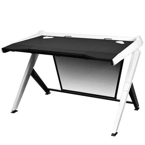 bureau gamer meuble dxracer gaming desk blanc autres accessoires jeu
