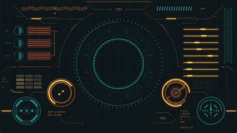 futuristic user interface  hud stock footage video