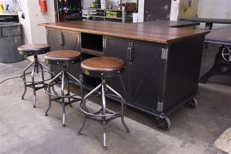 island kitchen tables with chairs ellis kitchen island vintage industrial furniture 7598