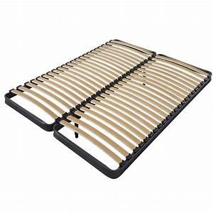 Pieds Sommier Lattes : cadre de lit 70 70cm x 190cm avec 2 pieds de raccord et 2x22 lattes dya ~ Teatrodelosmanantiales.com Idées de Décoration
