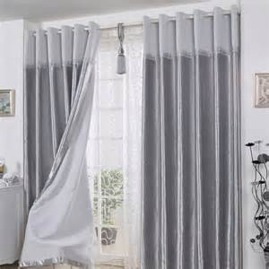 decorative polyester ready made curtains in gray for living room