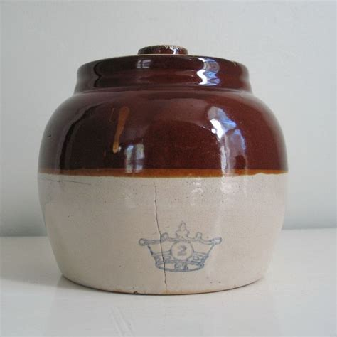 ceramic glazed bean pot brown medium size crock pot 17 best images about crocks and jugs on