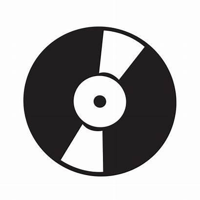 Vinyl Vector Retro Record Icon Records Illustration