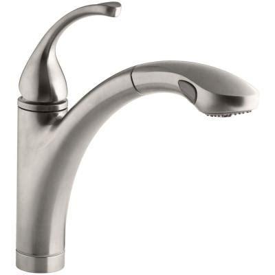 Kohler Forte Kitchen Faucet Home Depot kohler forte single handle pull out sprayer kitchen faucet