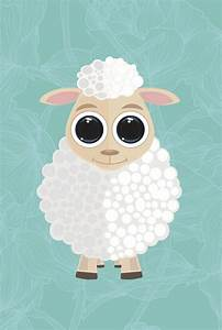cute sheep draw drawing painted draw drawing art lightning ...
