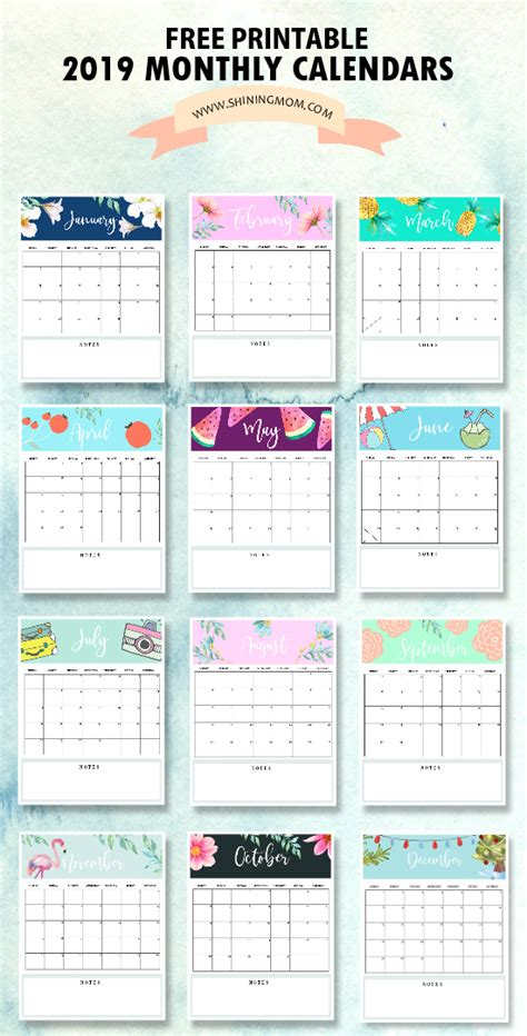 calendar  printable   monthly calendars  love
