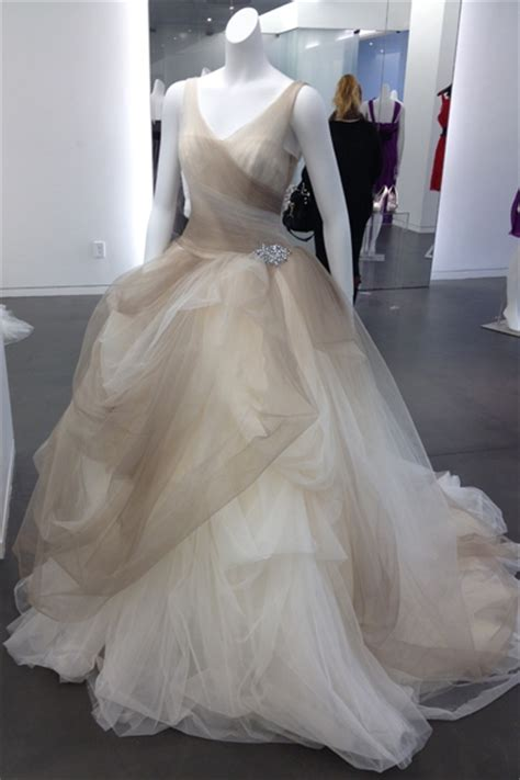 Vera Wang Stone Ombre Tulle Ball Gown With Pick Up Skirt