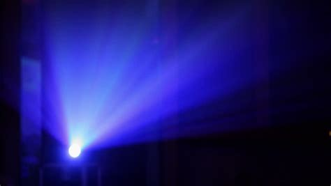 deep projection vanity light deep blue light flare with old wall background stock