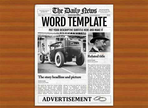 Newspaper Template Vintage Word Newspaper Template Flyer Templates