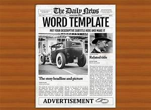Old style word newspaper template flyer templates for Old newspaper template word free