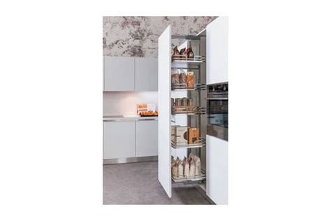 armoire colonne cuisine colonne extractible finition chrome