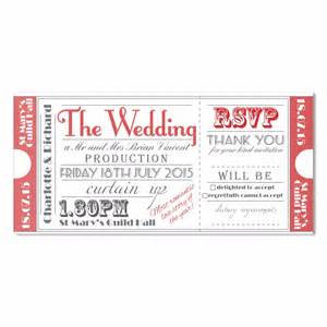 ticket wedding invitations ticket to the theatre wedding invite in
