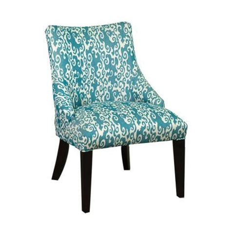 26 quot teal upholstered accent chair house aerie s