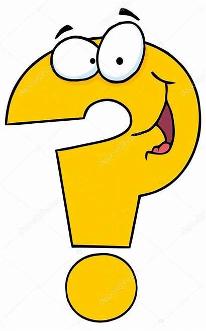 Question Cartoon Mark Vraagteken Clipart Character Questions