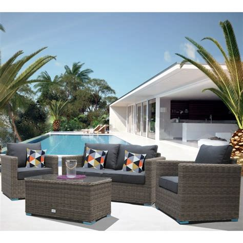 divano esterno rattan set salotto divani da giardino due posti in rattan sintetico