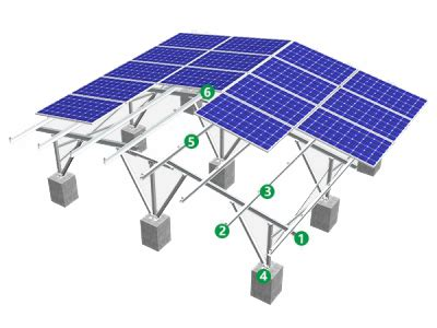 spgt solar panel ground mount racking system photovoltaic module mibet