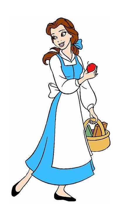 Belle Disney Princess Clipart Village Beast Beauty