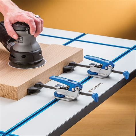auto lock  track clamp rockler woodworking  hardware