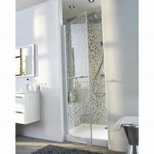 Fermeture De Douche : porte de douche pivotante profil s blancs 80 cm vikos ~ Edinachiropracticcenter.com Idées de Décoration