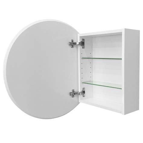 cibo design 600mm white circle mirror cabinet bunnings