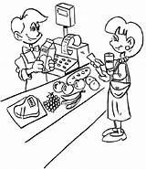 Coloring Grocery Pages Cashier Supermarket Jobs Fruits Pokemon Children Coloringpagesfortoddlers Enregistree Depuis Fruit Popular Doghousemusic sketch template