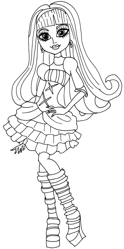 printable monster high coloring pages elissabat  printable monster high coloring sheet