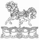 Coloring Horse Pages Carousel Adult Horses Tattoo Adults Sheets Books Unicorn Printable Advanced Colouring Drawing Uploaded User Pattern Getdrawings Animals sketch template