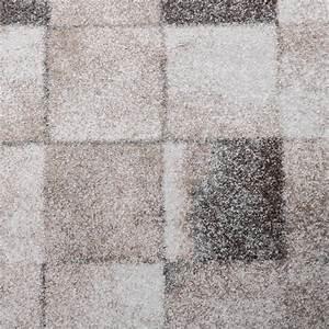Teppich Grau Beige : teppich meliert modern webteppich klein kariert hochwertig in beige grau creme teppiche kurzflor ~ Indierocktalk.com Haus und Dekorationen