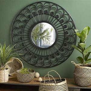 Miroir Rotin Noir : miroir rond en rotin noir d100 olivia maisons du monde ~ Melissatoandfro.com Idées de Décoration