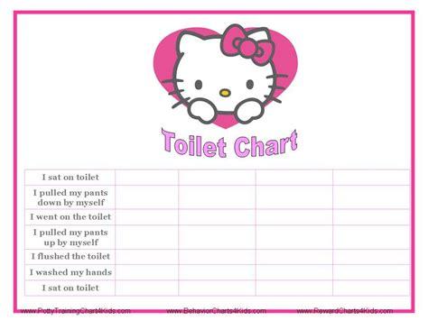 kitty  potty training charts potty training