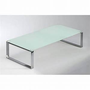 Table Basse En Verre Design Italien : table basse verre blanc maison design ~ Melissatoandfro.com Idées de Décoration