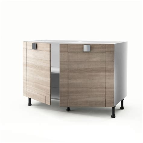 meuble sous evier 110 cm meuble de cuisine sous 233 vier d 233 cor ch 234 ne 2 portes karrey h