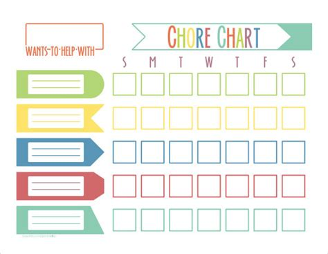 weekly chore chart 9 chore chart templates for free sle templates