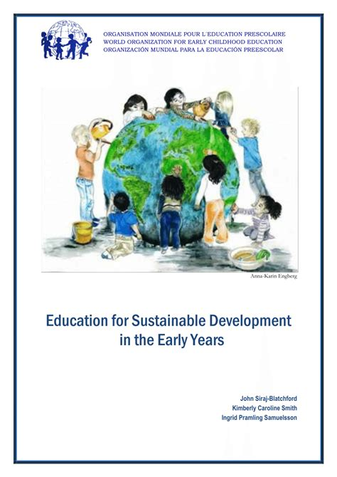 education  sustainable development   early years