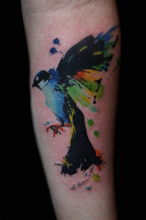 fantastic watercolor bird tattoos